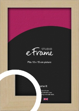Bohemian Natural Wood Picture Frame, 10x15cm (4x6