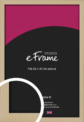 Bohemian Natural Wood Picture Frame, 20x30cm (8x12