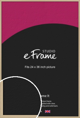 Bohemian Natural Wood Picture Frame, 24x36