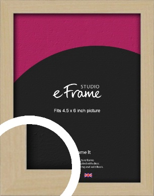 Bohemian Natural Wood Picture Frame, 4.5x6