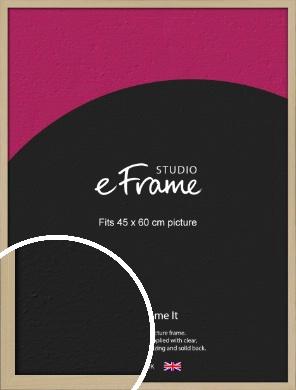 Bohemian Natural Wood Picture Frame, 45x60cm (VRMP-898-45x60cm)