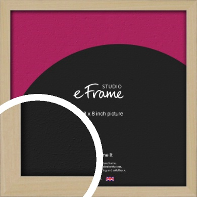Bohemian Natural Wood Picture Frame, 8x8