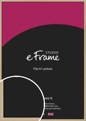 Bohemian Natural Wood Picture Frame, A1 (594x841mm) (VRMP-898-A1)