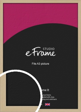 Bohemian Natural Wood Picture Frame, A3 (297x420mm) (VRMP-898-A3)