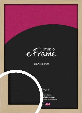 Bohemian Natural Wood Picture Frame, A4 (210x297mm) (VRMP-898-A4)