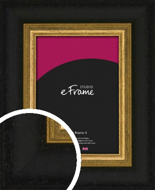 Extra Wide Retro Gold & Black Picture Frame (VRMP-899)