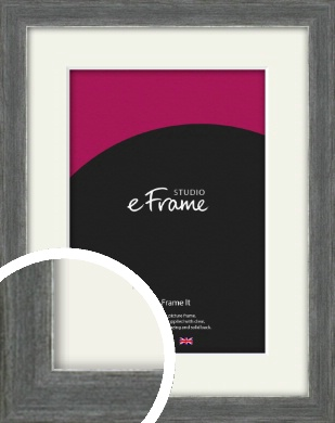 Heavily Brushed Silver Picture Frame & Mount (VRMP-900-M)