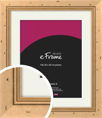 Reclaimed Style Brown Picture Frame & Mount, 20x25cm (8x10
