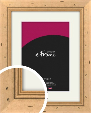 Reclaimed Style Brown Picture Frame & Mount (VRMP-281-M)