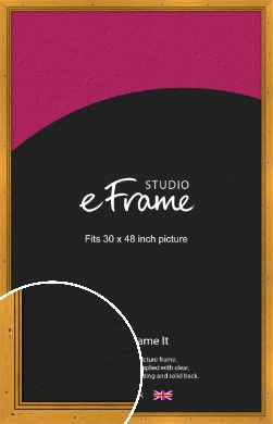 Classic Knotted Brown Picture Frame, 30x48