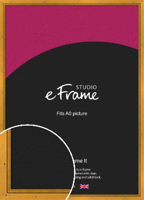 Classic Knotted Brown Picture Frame, A0 (841x1189mm) (VRMP-172-A0)