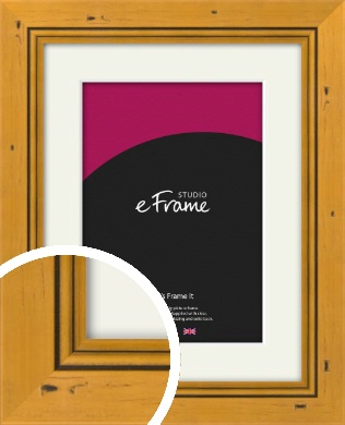 Classic Knotted Brown Picture Frame & Mount (VRMP-172-M)