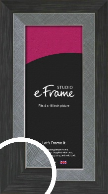 Two Tone Black & Silver Picture Frame, 4x10