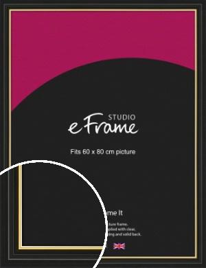 Boutique Gold Highlight Black Picture Frame, 60x80cm (VRMP-909-60x80cm)