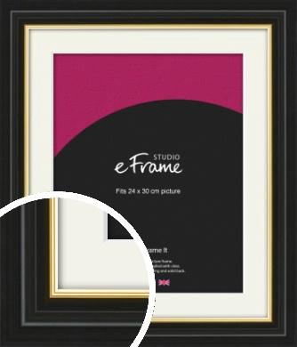 Boutique Gold Highlight Black Picture Frame & Mount, 24x30cm (VRMP-909-M-24x30cm)