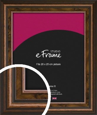 Vintage Crafted Brown Picture Frame, 20x25cm (8x10