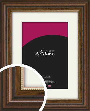 Gold Beaded Brown Picture Frame & Mount (VRMP-913-M)
