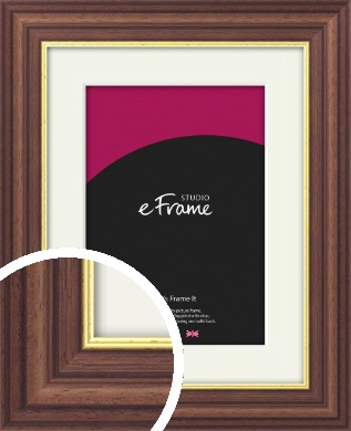 Diploma Style Brown Picture Frame & Mount (VRMP-174-M)