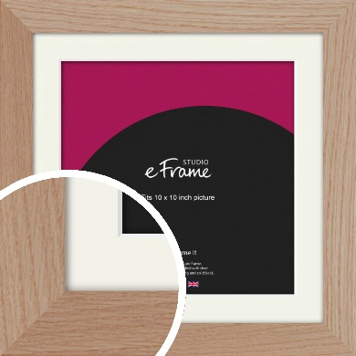 Essential Oak Natural Wood Picture Frame & Mount, 10x10