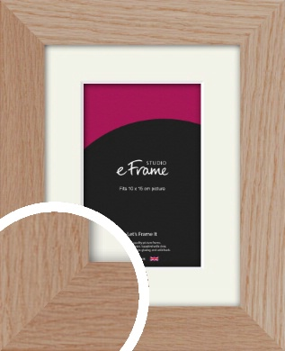 Essential Oak Natural Wood Picture Frame & Mount, 10x15cm (4x6
