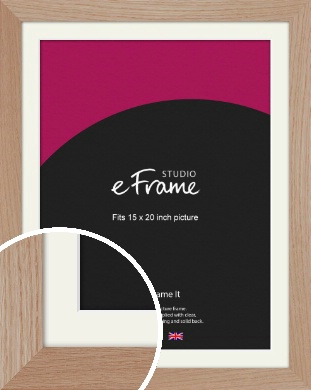 Essential Oak Natural Wood Picture Frame & Mount, 15x20