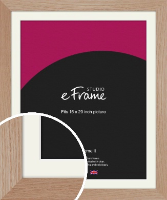 Essential Oak Natural Wood Picture Frame & Mount, 16x20