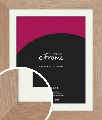 Essential Oak Natural Wood Picture Frame & Mount, 28x35cm (VRMP-427-M-28x35cm)