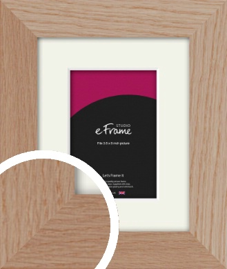 Essential Oak Natural Wood Picture Frame & Mount, 3.5x5