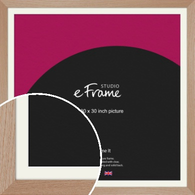 Essential Oak Natural Wood Picture Frame & Mount, 30x30