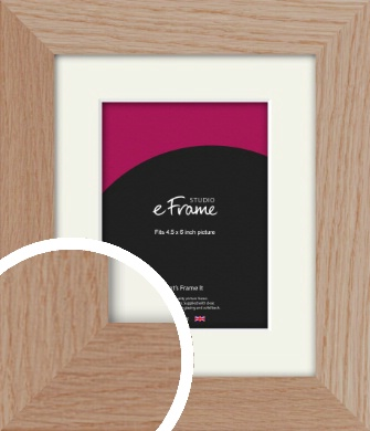 Essential Oak Natural Wood Picture Frame & Mount, 4.5x6