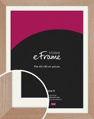 Essential Oak Natural Wood Picture Frame & Mount, 45x60cm (VRMP-427-M-45x60cm)