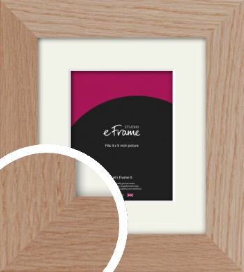 Essential Oak Natural Wood Picture Frame & Mount, 4x5