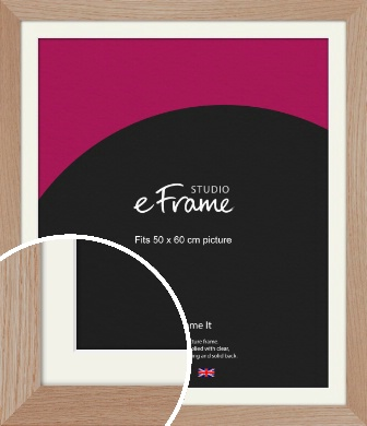 Essential Oak Natural Wood Picture Frame & Mount, 50x60cm (VRMP-427-M-50x60cm)