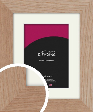 Essential Oak Natural Wood Picture Frame & Mount, 5x7