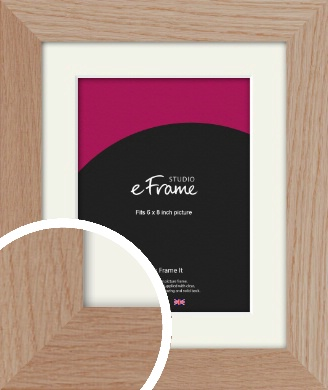 Essential Oak Natural Wood Picture Frame & Mount, 6x8