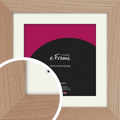 Essential Oak Natural Wood Picture Frame & Mount, 8x8