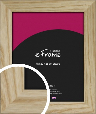 Durable Raw Natural Wood Picture Frame, 20x25cm (8x10