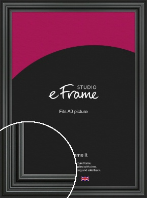 Imposing Grooved Black Picture Frame, A0 (841x1189mm) (VRMP-926-A0)