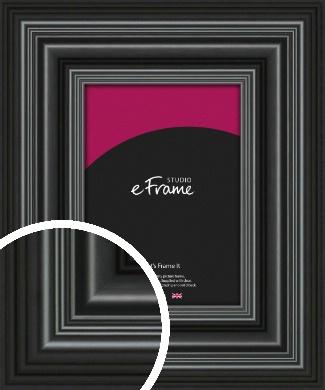 Imposing Grooved Black Picture Frame (VRMP-926)