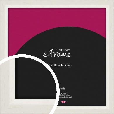 Chamfered Natural Cotton Cream Picture Frame, 10x10