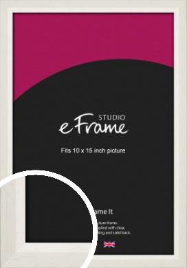 Chamfered Natural Cotton Cream Picture Frame, 10x15