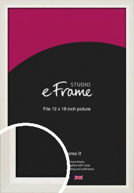 Chamfered Natural Cotton Cream Picture Frame, 12x18