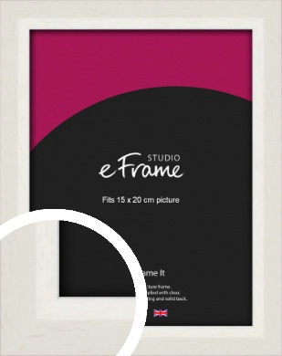 Chamfered Natural Cotton Cream Picture Frame, 15x20cm (6x8