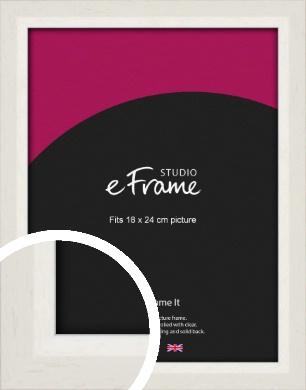Chamfered Natural Cotton Cream Picture Frame, 18x24cm (VRMP-927-18x24cm)