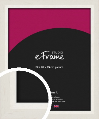 Chamfered Natural Cotton Cream Picture Frame, 20x25cm (8x10