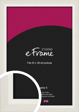 Chamfered Natural Cotton Cream Picture Frame, 20x30cm (8x12