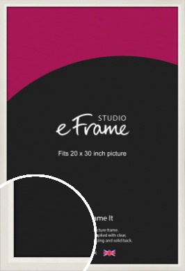 Chamfered Natural Cotton Cream Picture Frame, 20x30