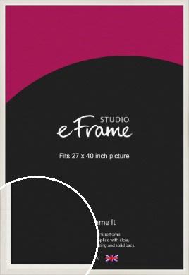 Chamfered Natural Cotton Cream Picture Frame, 27x40