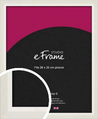 Chamfered Natural Cotton Cream Picture Frame, 28x35cm (VRMP-927-28x35cm)