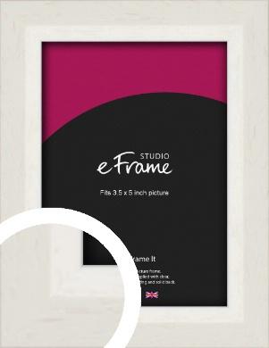 Chamfered Natural Cotton Cream Picture Frame, 3.5x5